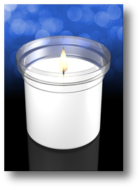 Clarity 3 inch Plastic Devotional Church Candle