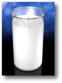 Clarity 5 inch Glass Cylinder Church Candle