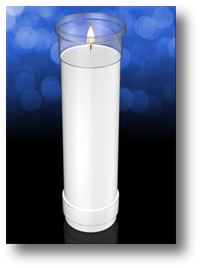 Clarity 8 inch Plastic Devotional Church Candle