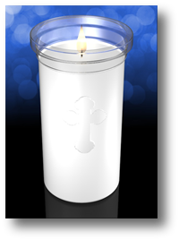 Clarity 5 inch Plastic Devotional Church Candle