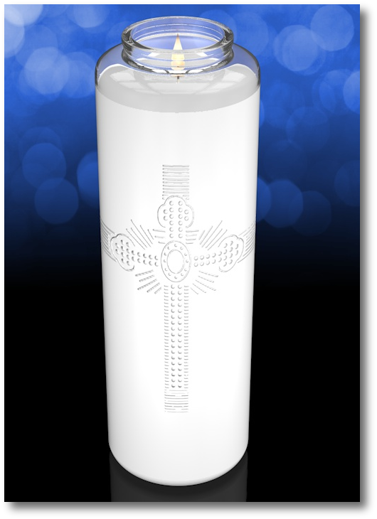 Clarity 9 inch Glass Santuary Church Candle